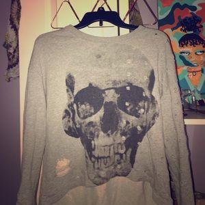 Sweaters - Skull Crew neck